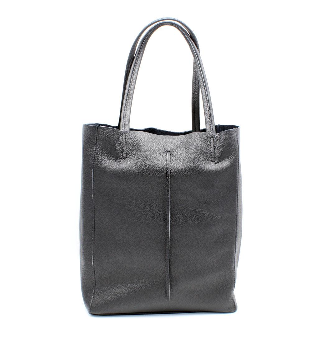 Damen Shopper Leder Schultertasche Handtasche Gaia